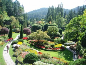 Scenic View at Butchart Gardens