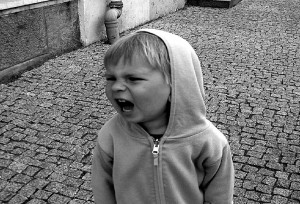 image of kid screaming